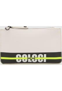 Bolsa Tiracolo Colcci Best Seller Logo Strip Branca