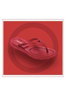 310000 - Sandalia Chinelo Rasteira Vermelho