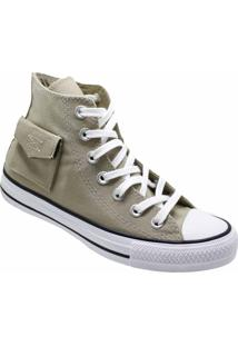 Tênis Converse All Star Chuck Taylor Pocket Hi Caqui Branco Ct13120003 - Kanui