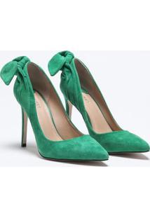 Scarpin Suede Lace Verde - 34