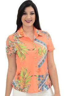 Camisa Moché Bora Bora - Feminino-Coral