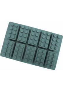 Forma De Silicone Para Gelatina, Gelo, Chocolate - Bloco De Montar - Verde - Dafiti