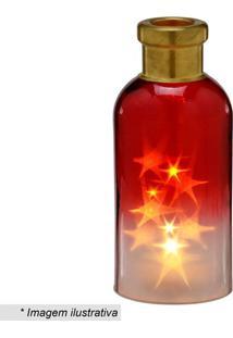 Garrafa Decorativa Com Luz- Vermelha & Amarela- 24,5Mabruk