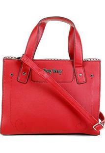 Bolsa Betty Boop Tiracolo Shopper Feminina - Feminino-Vermelho