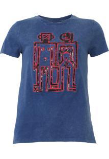 Blusa Desigual Indigorobot Azul