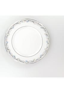 Conjunto De Pratos Rasos Porcelana Schmidt 06 Peças - Dec. Saint German