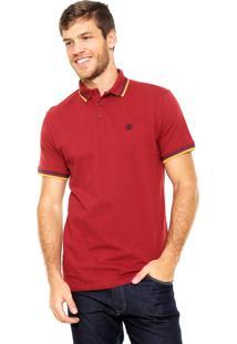 Camisa Polo Timberland Slim Vermelha