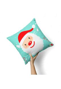 Capa De Almofada Avulsa Decorativa Papai Noel 35X35Cm - Multicolorido - Dafiti