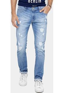 Calça Jeans Colcci Rodrigo Indigo Estonada Masculina - Masculino