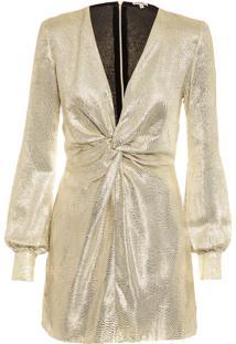 Vestido Lurex Nandy - Dourado