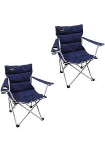 Kit 2 Cadeiras Dobráveis Fácil Montagem E Desmontagem Boni Nautika - Unissex