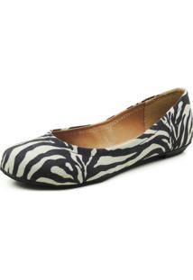Sapatilha Reagar Zebra Preta/Branca