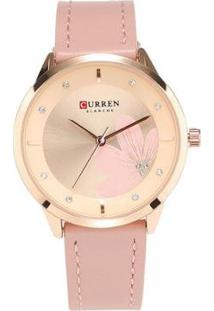 Relógio Curren Analógico C9048L Feminino - Feminino-Rosa