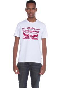 Camiseta Levis Logo 2 Horse Branca