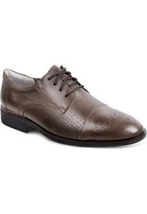 Sapato Social Masculino Derby Sandro Moscoloni Edmonds Marrom Outlet