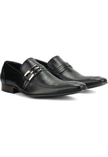 Sapato Social Em Couro Bigioni Clássico Italiano Masculino - Masculino-Preto