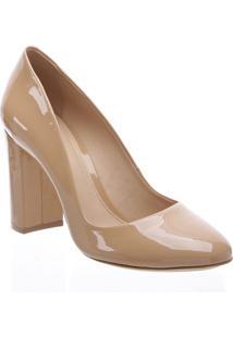 Sapato Tradicional Envernizado- Nude- Salto: 9Cmarezzo & Co.