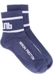 Heron Preston Par De Brincos Com Logo - Azul