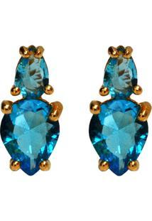 Brinco Dourado Ania Store Lady Azul - Kanui