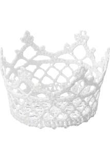 Cesta Redonda Em Forma De Croche Impermeável De Plástico 10X6 Cm - Unissex