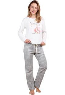 Pijama Inspirate De Inverno Xadrez Jacquard