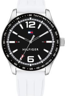 Relógio Tommy Hilfiger Masculino Borracha Branca - 1791703