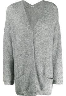 Liu Jo Oversized Knitted Cardigan - Cinza