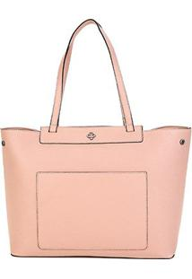 Bolsa Capodarte Shopper Monocolore Feminina - Feminino-Nude