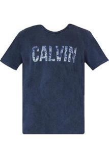 Camiseta Ck Calvin Indigo Masculino - Masculino-Azul