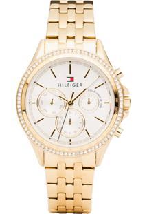 2b89a2912b1 Relógio Digital Dourado Tommy Hilfiger feminino