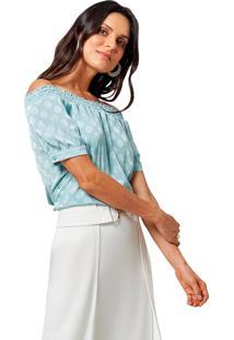 Blusa Mx Fashion Ombro A Ombro Paolina Verde - Tricae