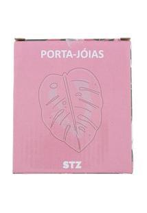 Porta-Jóias Stz Decorativo Folha De Adão Rosa