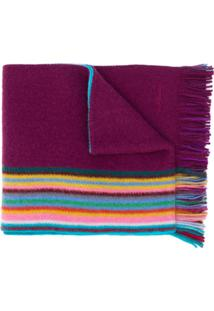 Paul Smith Cachecol Listrado - Roxo