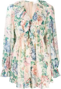 Zimmermann Vestido Com Estampa Floral - Neutro