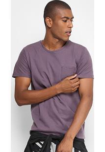 Camiseta Forum Tinturada Bolso Masculina - Masculino-Roxo