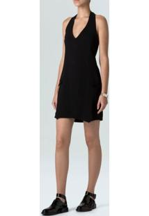 Vestido Colete Alfaiataria-Preto - 36