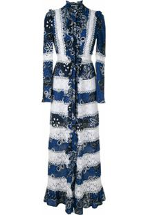 Martha Medeiros Vestido Midi Chemise Vicenza Estampado - Azul