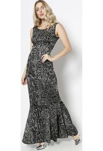 4012439303 Vestido Cecilia Prado Preto feminino