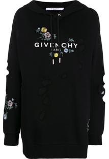 Givenchy Logo Oversized Hoodie - Preto