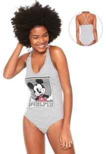 Body Cativa Disney Estampado Cinza