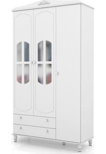 Guarda-Roupas 3 Portas Colonial Branco Branco