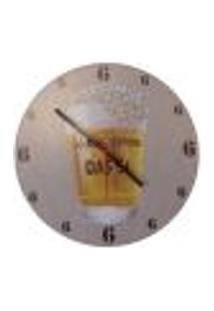 Relógio Em Vinil Só Bebo Depois Das 6