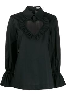 Vivetta Heart Neck Blouse - Preto