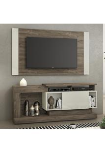 Rack Com Painel Para Tv Até 55 Polegadas 1 Porta Nt1065 Canela/Areia - Notável
