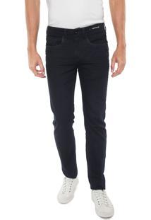 Calça Jeans Aramis Reta Milão Azul-Marinho