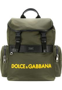 Dolce & Gabbana Mochila Estilo Militar - Verde