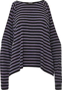 Blusa Calvin Klein Jeans Listrada Roxa