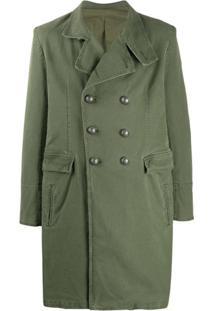 Balmain Trench Coat Militar - Verde