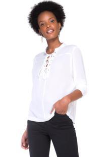 Camisa Crepe De Seda Com Amarração