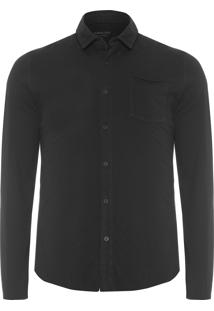 Camisa Masculina Pocket Side - Preto